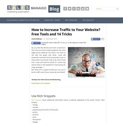How to Increase Traffic to Your Website? Free Tools and 14 Tricks
