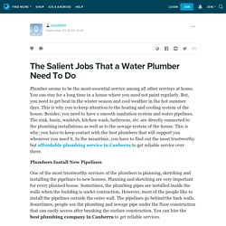 The Salient Jobs That a Water Plumber Need To Do: deb99561 — LiveJournal