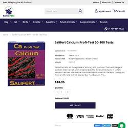 Salifert Calcium Profi-Test 50-100 Tests – Kwik Retail LLC