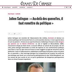 Julien Salingue : « Au-delà des quenelles, il faut remettre du politique » « Femmes De Chambre