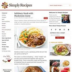 Salisbury Steak with Mushroom Gravy Recipe
