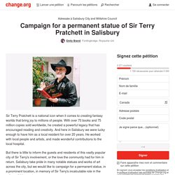 Salisbury City Council: Campaign for a permanent statue of Sir Terry Pratchett in Salisbury