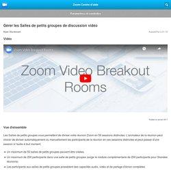 Gérer les Salles de petits groupes de discussion vidéo – Zoom Centre d'aide