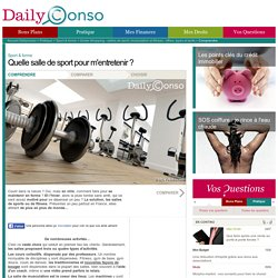 salles de sport, musculation et fitness : offres, types et tarifs