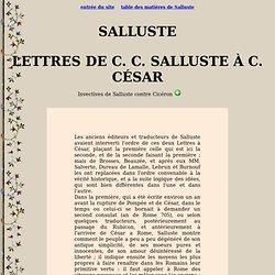 Salluste : Lettres de Salluste à César
