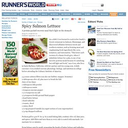 """A Spicy Salmon Lettuce """"Gyros"""" Recipe From Runner's World.com"""