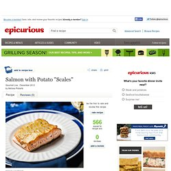 "Salmon with Potato ""Scales"" Recipe"