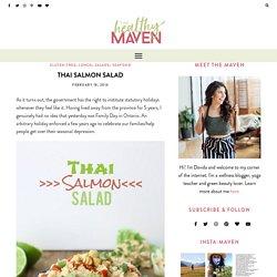 Thai Salmon Salad - The Healthy Maven