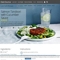 Salmon Tandoori with Cucumber Sauce