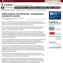 USDA proposes new <i>Salmonella</i>, <i>Campylobacter</i> standards for poultry