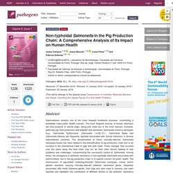 PATHOGENS 29/01/19 Non-typhoidal Salmonella in the Pig Production Chain: A Comprehensive Analysis of Its Impact on Human Health