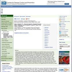 CDC EID 23/12/03 Salmonella Enteritidis Infections, United States, 1985-1999, M.E. Patrick