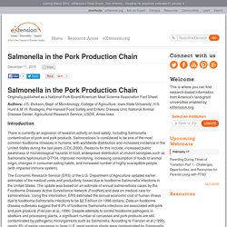 USDA 11/12/15 Salmonella in the Pork Production Chain