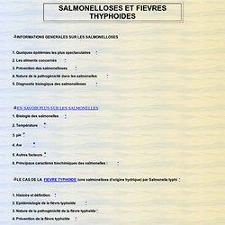 SALMONELLOSES