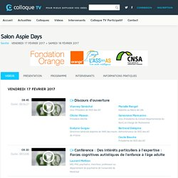 Salon Aspie Days - Colloque-TV