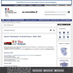 """Salons """"Orientation"""" en Île-de-France - 2020 / 2021"""