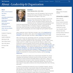 Peter Salovey, University leadership | Yale