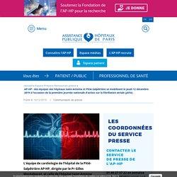 AP-HP : des équipes des hôpitaux Saint-Antoine et Pitié-Salpêtrière se mobilisent le jeudi 12 décembre 2019 à l'occasion de la première journée nationale d'action sur la fibrillation atriale (JAFA)