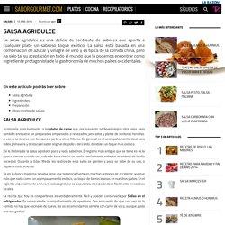 Salsa agridulce - SaborGourmet.com