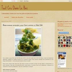 Tout Cru Dans Le Bec: Salsa ananas coriandre, pour faire comme si c'était l'été