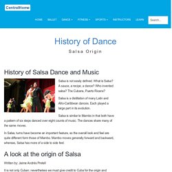 Salsa History of Salsa Dancing