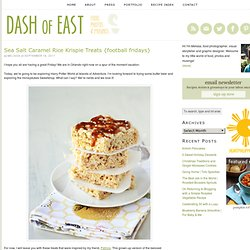 Sea Salt Caramel Rice Krispie Treats | Dash of East
