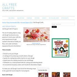 Salt Dough Crafts and Recipes