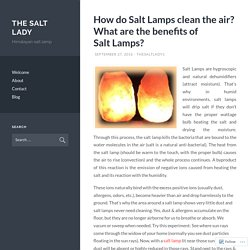 How do Salt Lamps clean the air? What are the benefits of Salt Lamps?