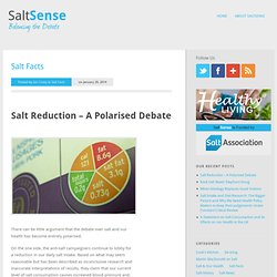 The Salt Association ::: saltsense, salt history, salt manufacture, salt uses, sodium. Key information on salt from the Salt Industry
