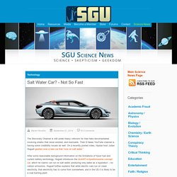 Salt Water Car? – Not So Fast