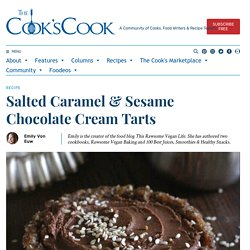 Salted Caramel & Sesame Chocolate Cream Tarts
