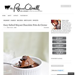 Easy Salted Mayan Chocolate Pots de Creme