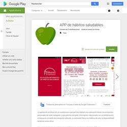 APP de hábitos saludables – Applications Android sur GooglePlay