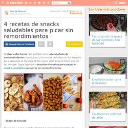 4 recetas de snacks saludables para picar sin remordimientos