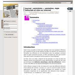 salut@toto — salutation, règle éditoriale et nom sur Internet