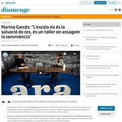"""Marina Garcés: """"L'escola no és la salvació de res, és un taller on assagem la convivència"""""""