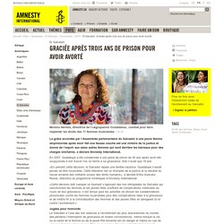 El Salvador: Graciée après trois ans de prison pour avoir avorté