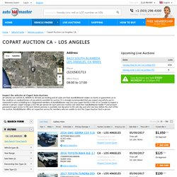 Salvage Cars Auction in Los Angeles, CA – AutoBidMaster