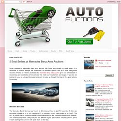 Salvage Vehicle Auctions: 5 Best Sellers at Mercedes Benz Auto Auctions