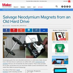 Salvage Neodymium Magnets from an Old Hard Drive