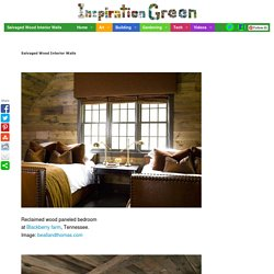 Salvaged Wood Interior Walls