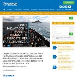 Ong e salvataggi in mare, 11 domande (e risposte) per fare chiarezza - UNHCR