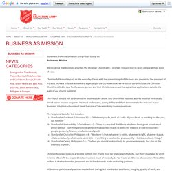The Salvation Army International - Business as Mission