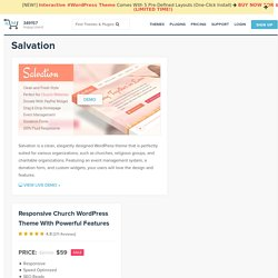 Salvation - Resposnive Church WordPress Theme