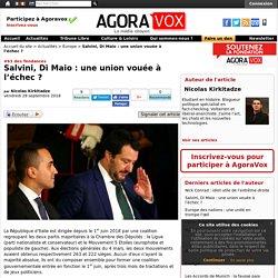 Salvini, Di Maio : une union vouée à l'échec