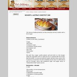 Visit Salzburg - Austrian Desserts & Sweet Dishes