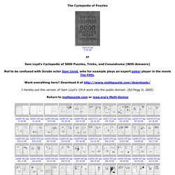 Sam Loyd's Cyclopedia of Puzzles