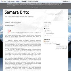 Samara Brito: Letramento Digital
