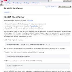 SAMBAClientSetup