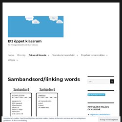 Sambandsord/linking words